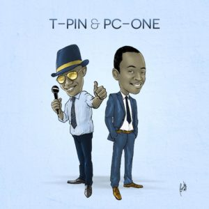Cartoon figures of T-Pin and PC-One